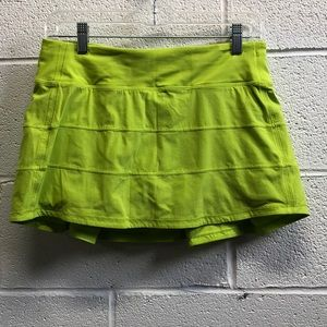 Lululemon green skirt, sz 6, 63548